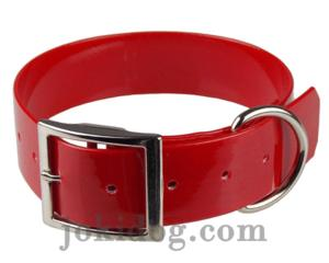 Collier biothane 38 mm x 70 cm rouge