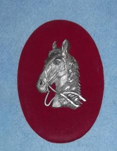 Cadre avec motif en étain - tête dfe cheval