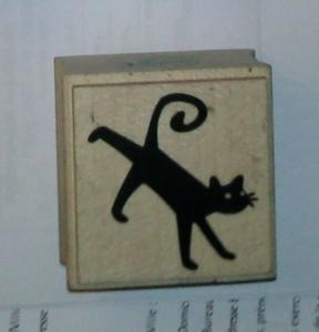 Tampon moyen : chat noir