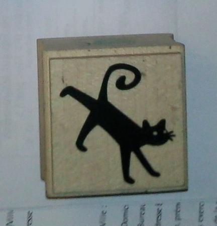 Achat : Tampon moyen : chat noir  (Autres jeux créatifs) - Autres jeux créatifs neuf et d'occasion - Achat et vente