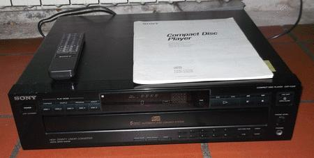 Achat : Lecteur 5 cd sony cdp-c425  (Platines cd) - Platines cd neuf et d'occasion - Achat et vente