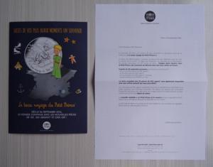 Flyer monnaie de paris voyage du petit prince 2016
