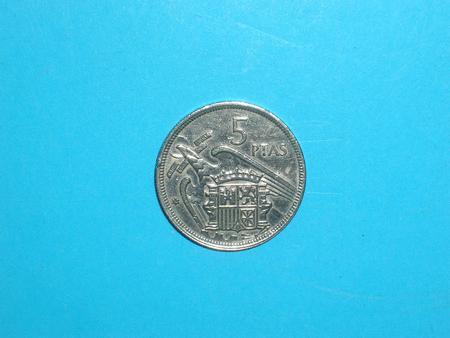 Achat : Piece - espagne - 1957 - 5 pesetas  (Pièces) - Pièces neuf et d'occasion - Achat et vente