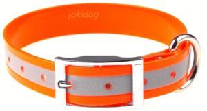 Collier fluo réfléchissant 25 mm orange