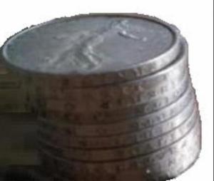 Pièce 5 francs semeuse 1964 en argent
