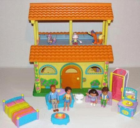 Achat : Maison mattel parlante bilingue dora l'exploratric  (Maisons de poupées) - Maisons de poupées neuf et d'occasion - Achat et vente