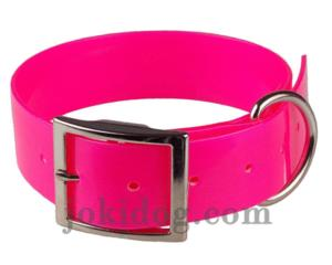 Collier biothane 38 mm x 60 cm rose