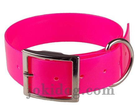 Achat : Collier biothane 38 mm x 60 cm rose  (Colliers pour chiens) - Colliers pour chiens neuf et d'occasion - Achat et vente