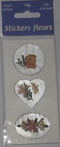 Stickers faits main : fleurs