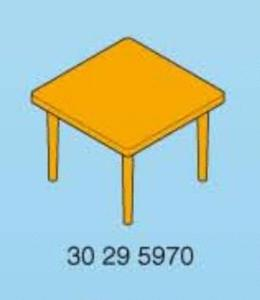 Playmobil table carrée  jaune