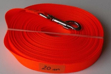 Achat : Longe 20m orange fluo  (Laisse pour chiens) - Laisse pour chiens neuf et d'occasion - Achat et vente